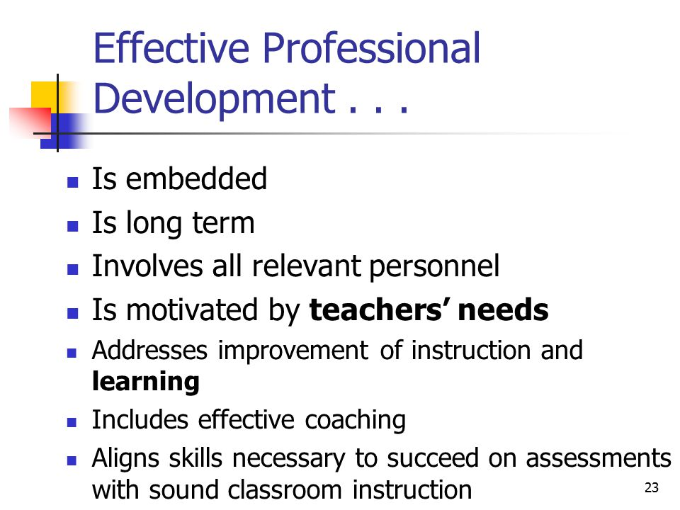 23 Effective Professional Development...