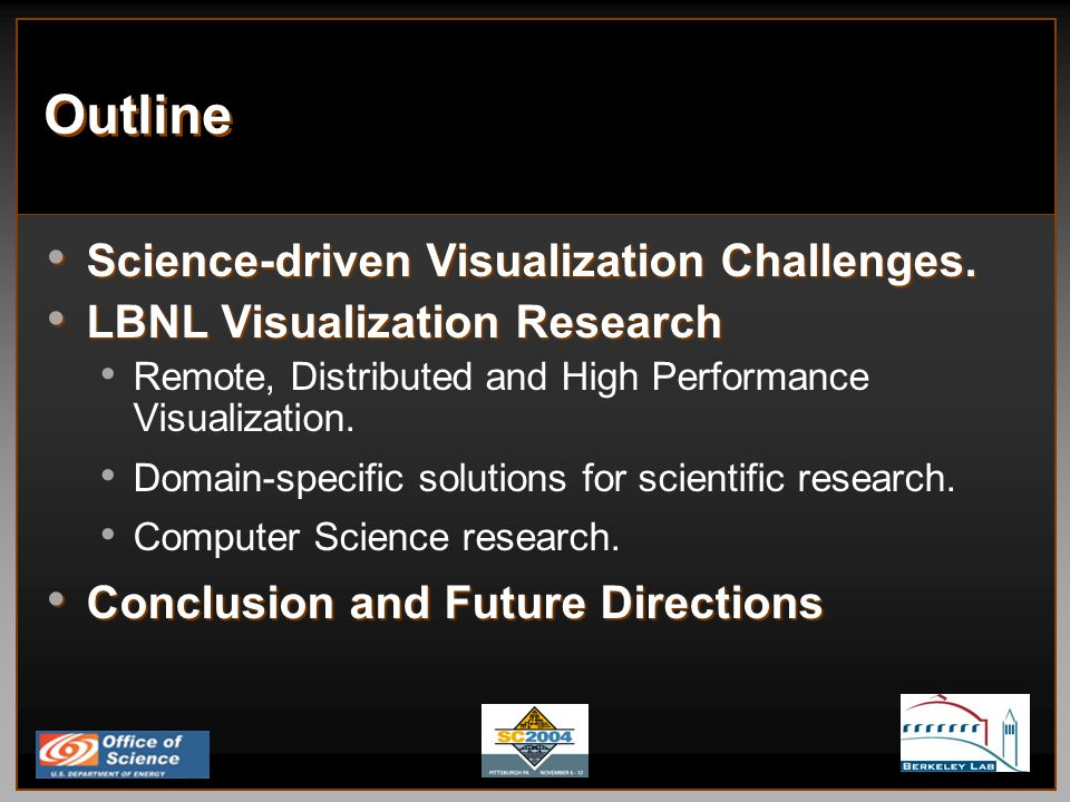 Fundamental Remote and Distributed Visualization Research Challenges Fungible technologies for creating visualization applications.