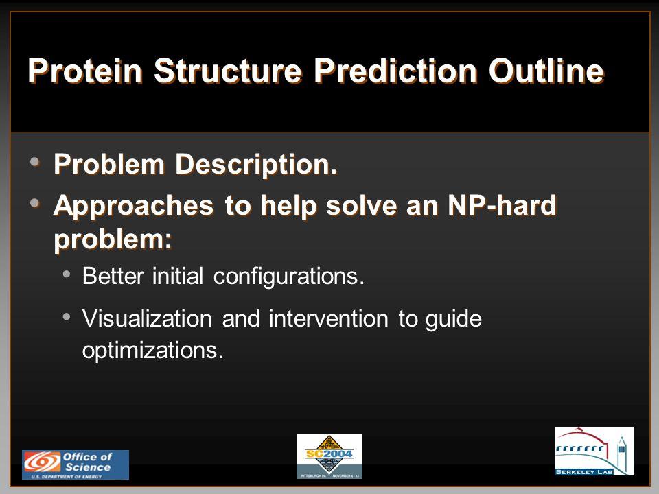 Protein Structure Prediction Outline Problem Description.