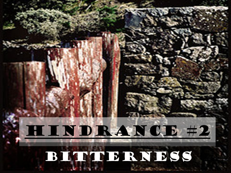 Hindrance #2 BITTERNESS