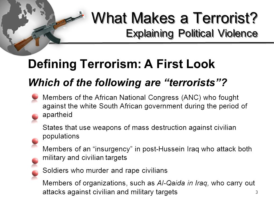 What Makes a Terrorist.