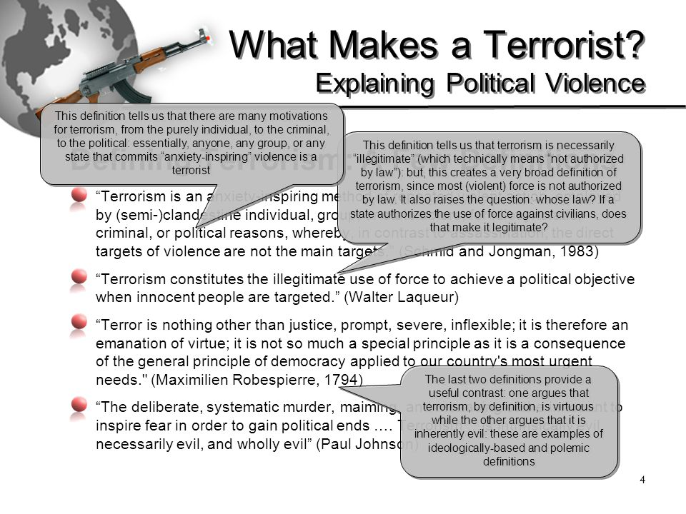 5 What Makes a Terrorist.