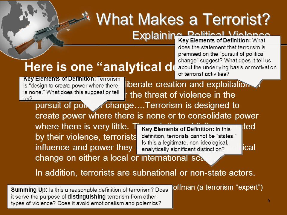 17 What Makes a Terrorist.