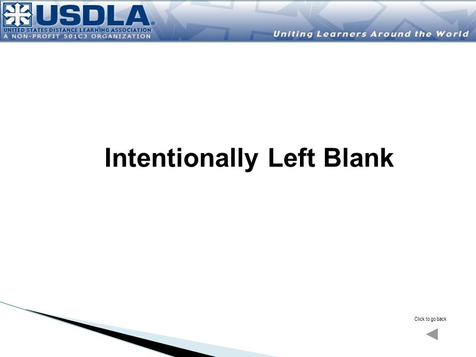 Click to go back Intentionally Left Blank
