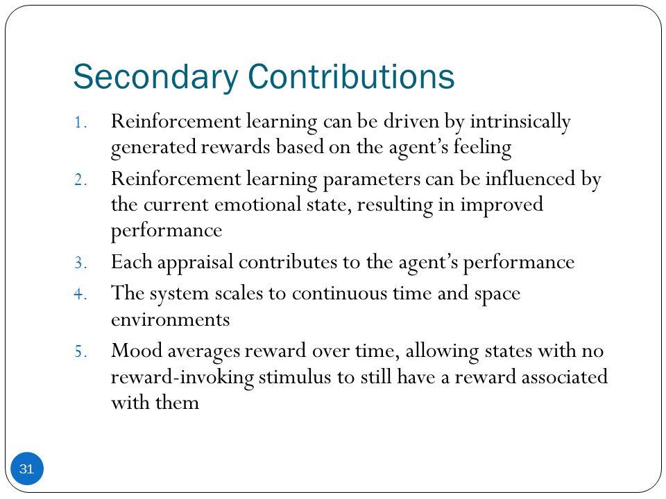 Secondary Contributions 31 1.