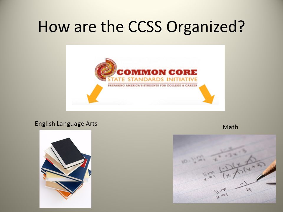 How are the CCSS Organized? English Language Arts Math