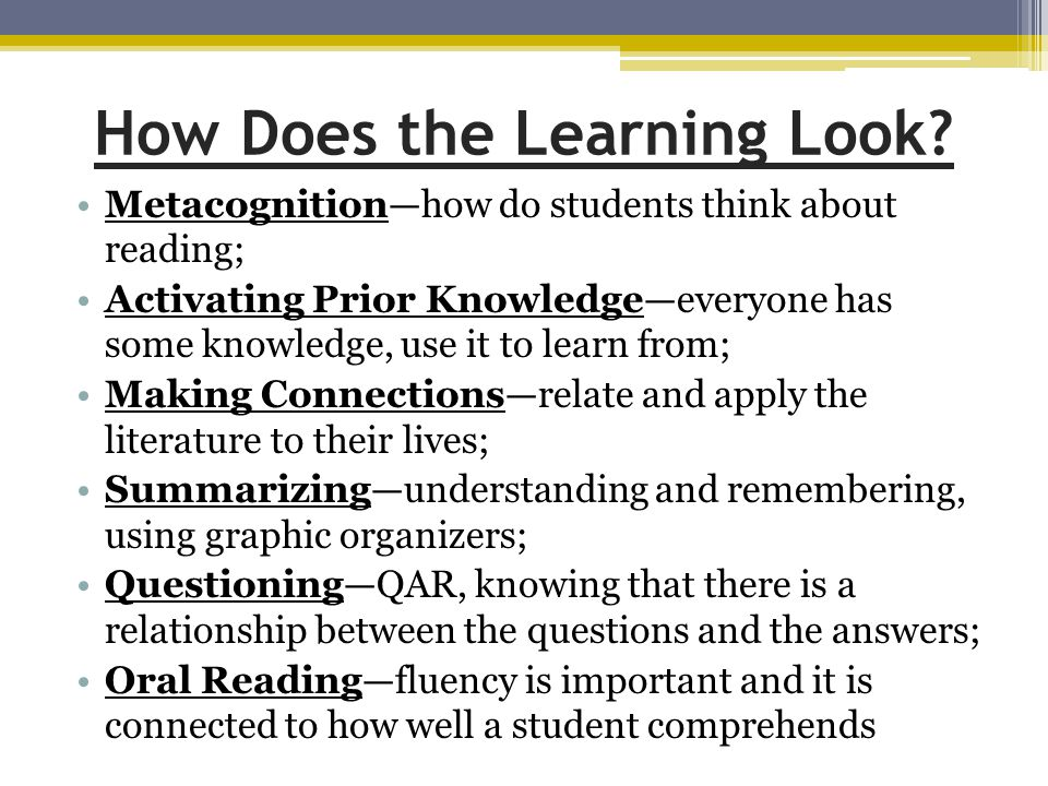 How Does the Learning Look.