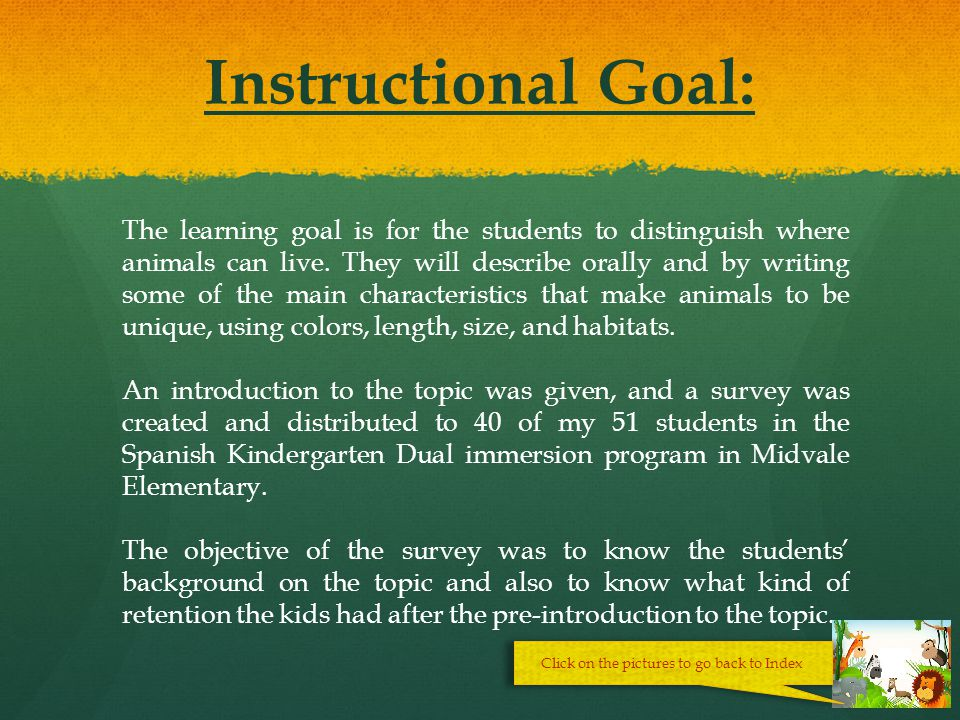 Index Instructional Goal. Prerequisites. Brief Outline or Scope and Sequence of Unit.