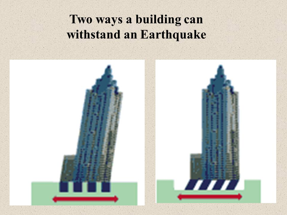 Two ways a building can withstand an Earthquake