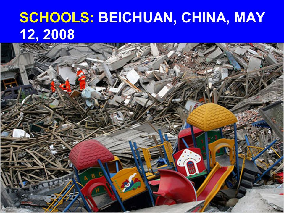 SCHOOLS: BEICHUAN, CHINA, MAY 12, 2008