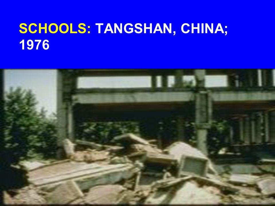 SCHOOLS: TANGSHAN, CHINA; 1976