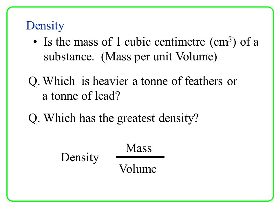 Conductivity The ability of a material to allow Heat or electricity to flow through it.