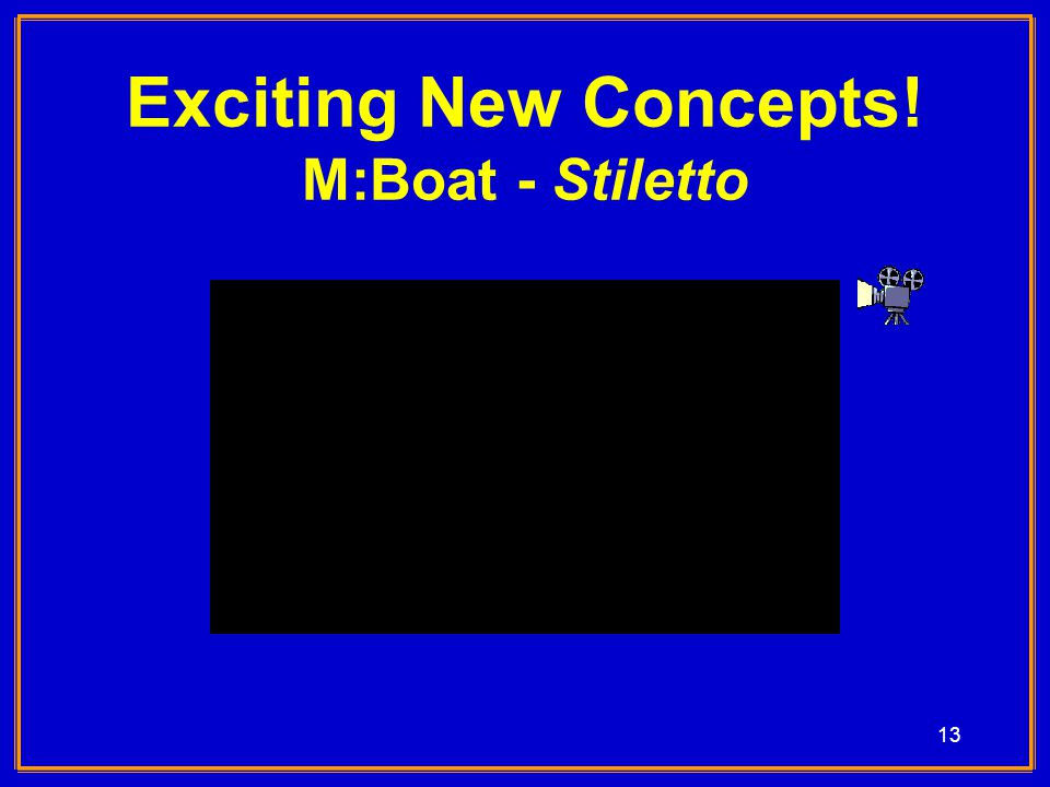 13 Exciting New Concepts! M:Boat - Stiletto