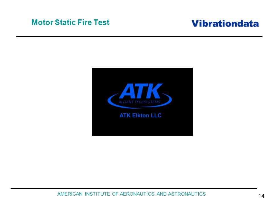 Vibrationdata AMERICAN INSTITUTE OF AERONAUTICS AND ASTRONAUTICS 14 Motor Static Fire Test