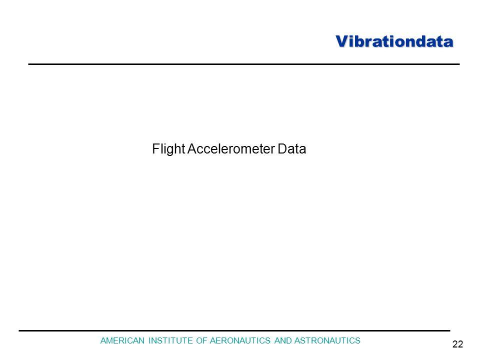 Vibrationdata AMERICAN INSTITUTE OF AERONAUTICS AND ASTRONAUTICS 22 Flight Accelerometer Data