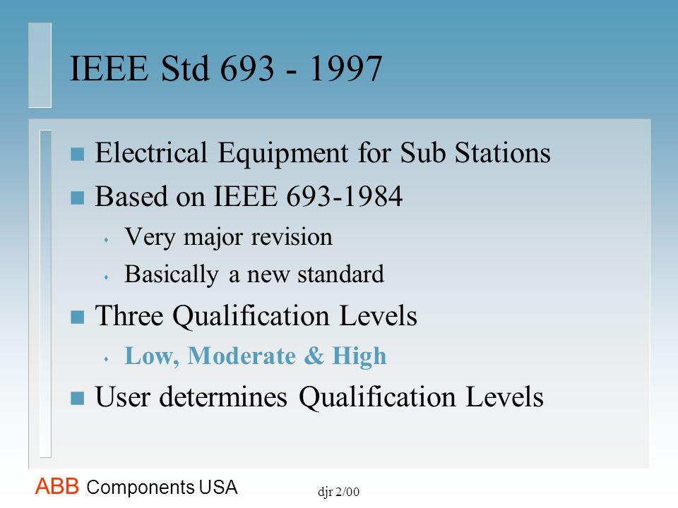 ABB Components USA European Standards IEC Technical Report 1463