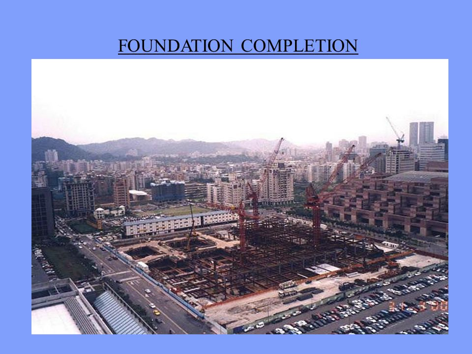 FOUNDATION CONSTRUCTION STEEL PILES, REBAR, & CONCRETE