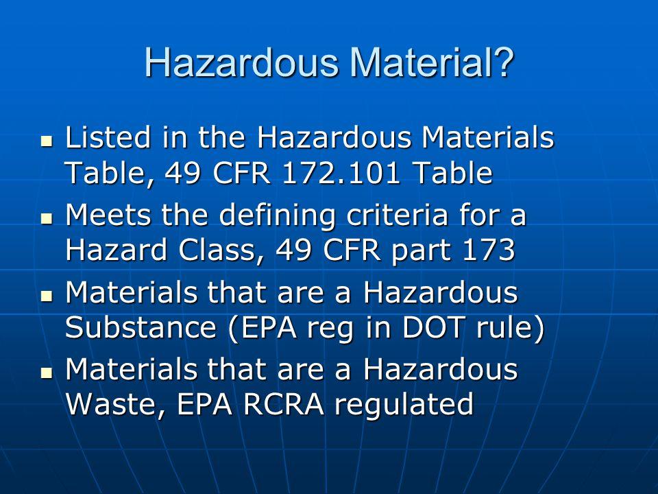Hazardous Material.