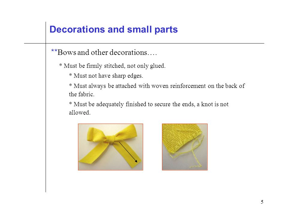 5 Decorations and small parts ** Bows and other decorations….