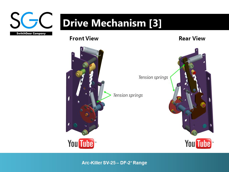 Drive Mechanism [3] Front View Rear View Arc-Killer SV-25 – DF-2 + Range Tension springs