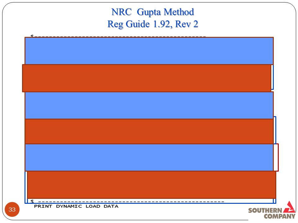 33 NRC Gupta Method Reg Guide 1.92, Rev 2 NRC Gupta Method Reg Guide 1.92, Rev 2
