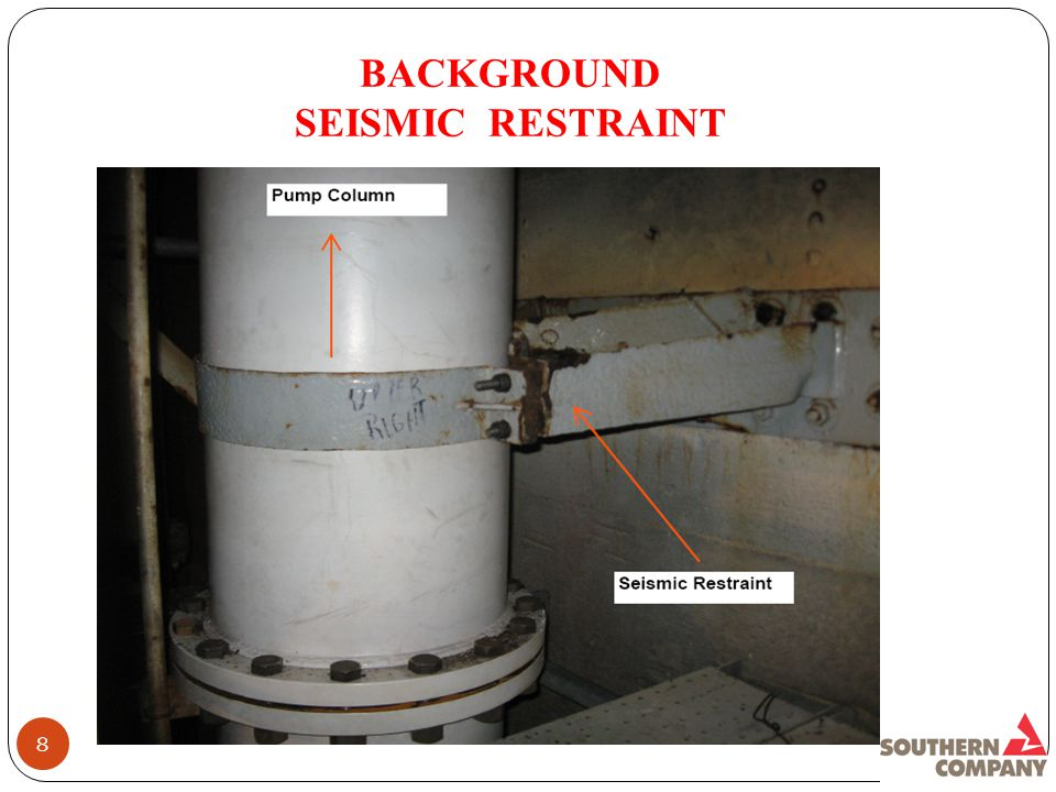 BACKGROUND SEISMIC RESTRAINT 8