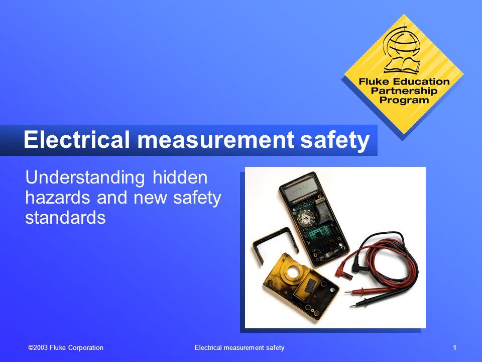 ©2003 Fluke Corporation Electrical measurement safety 22 When is 600 V more than 1000 V.