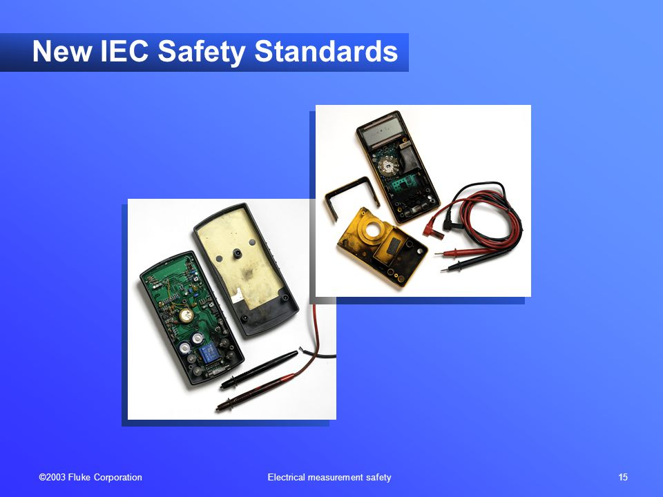 ©2003 Fluke Corporation Electrical measurement safety 15 New IEC Safety Standards