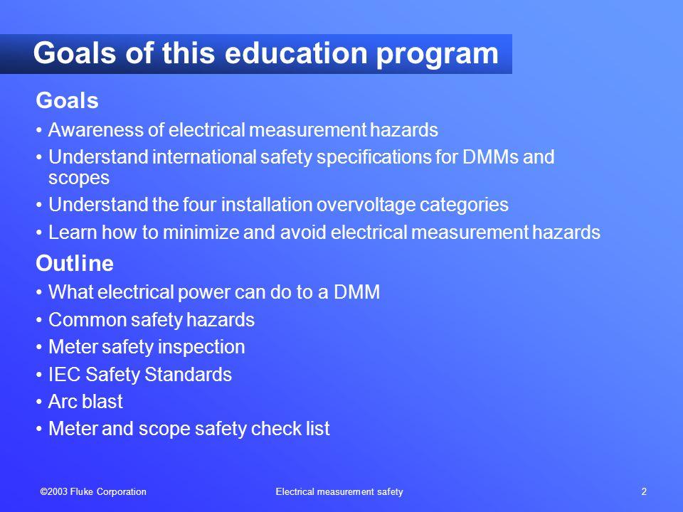 ©2003 Fluke Corporation Electrical measurement safety 33 CAT IV-600 V CAT III-1000 V What's the bottom line.