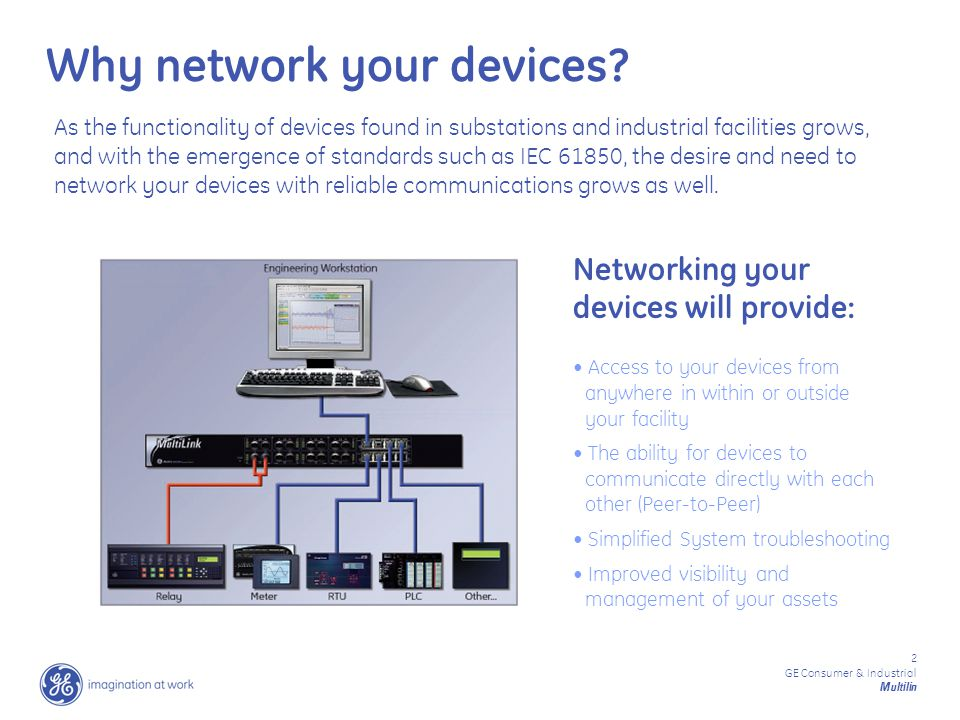 13 GE Consumer & Industrial Multilin Easy to understand Ethernet Traffic Statistics Monitor all of the different types of network traffic passing through each communication port Simple Network Management