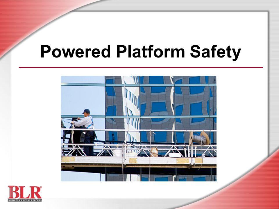 Powered Platform Safety