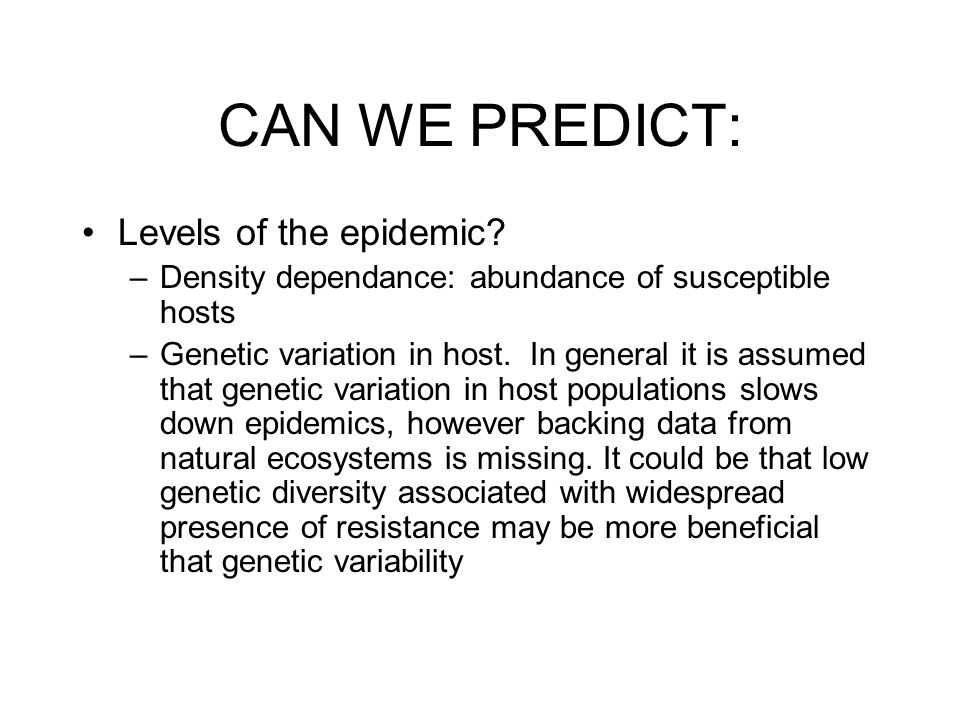 CAN WE PREDICT: Success of an exotic microbe.