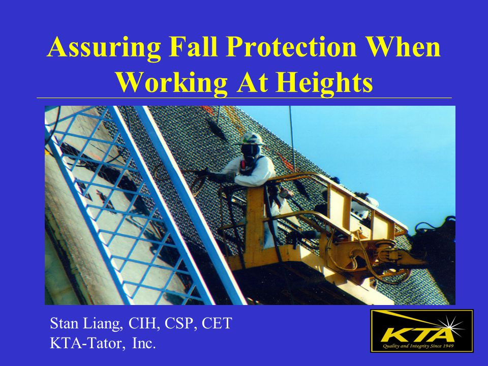 Holes Control fall hazards via personal fall arrest, covers or guardrails.