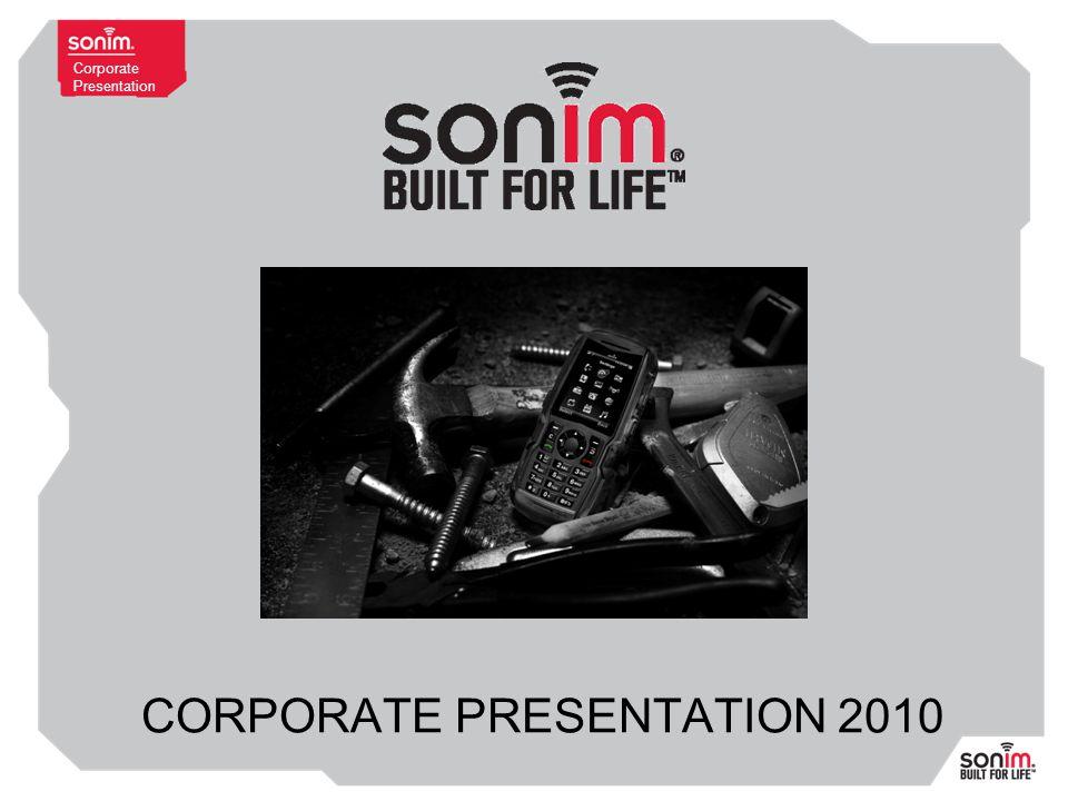 Corporate Presentation CORPORATE PRESENTATION 2010