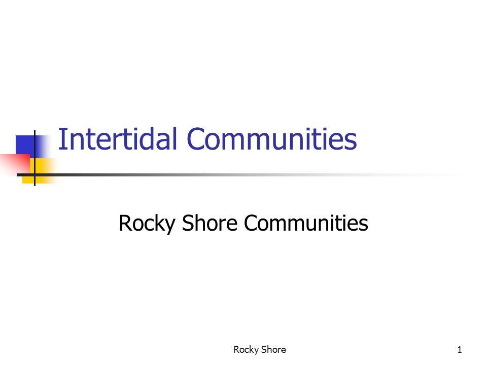 Rocky Shore1 Intertidal Communities Rocky Shore Communities