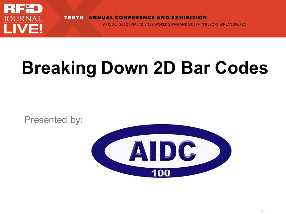 Breaking Down 2D Bar Codes Presented by: 4