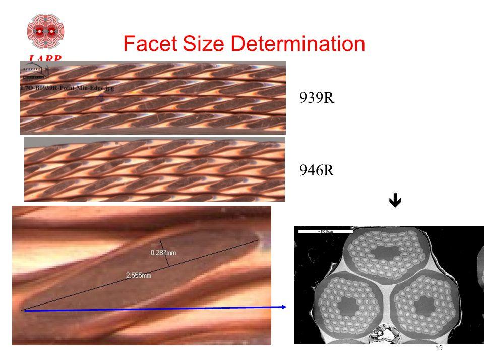 19 939R 946R Facet Size Determination 