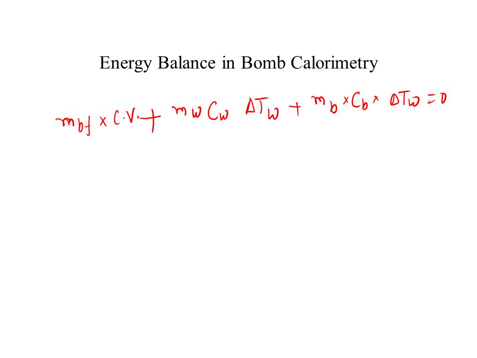 Energy Balance in Bomb Calorimetry