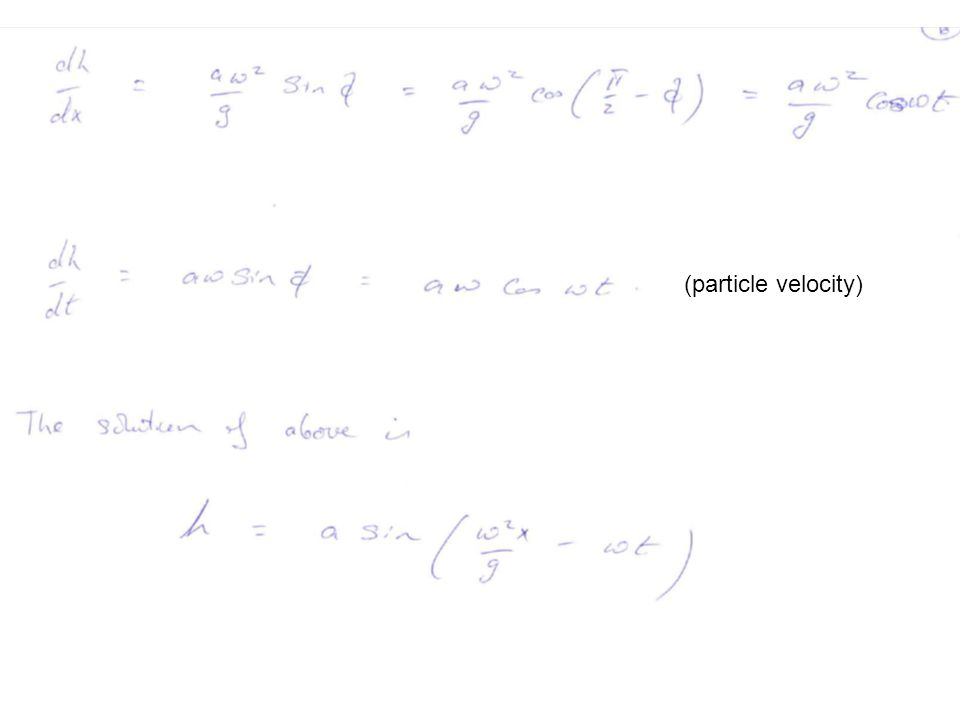 (particle velocity)