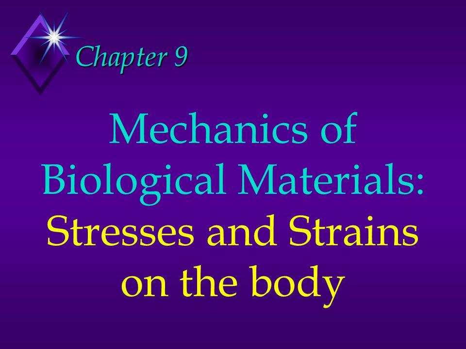 Mechanical loads on the human body: u Compression u Tension u Shear
