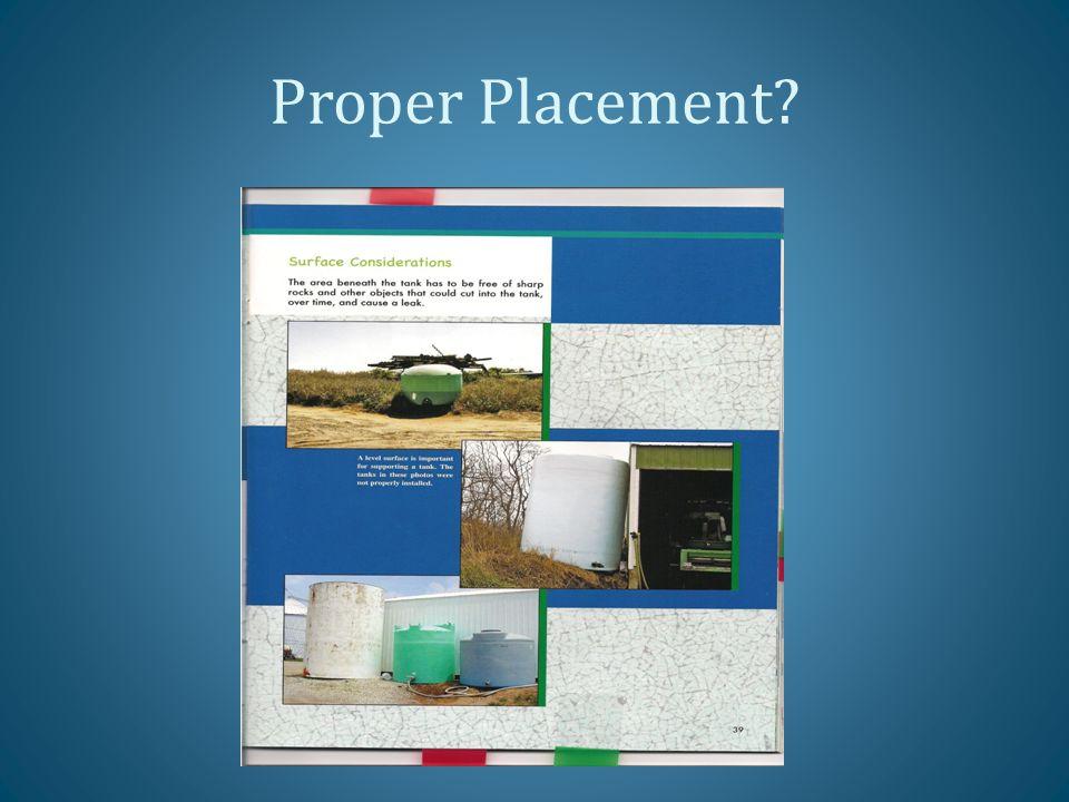 Proper Placement