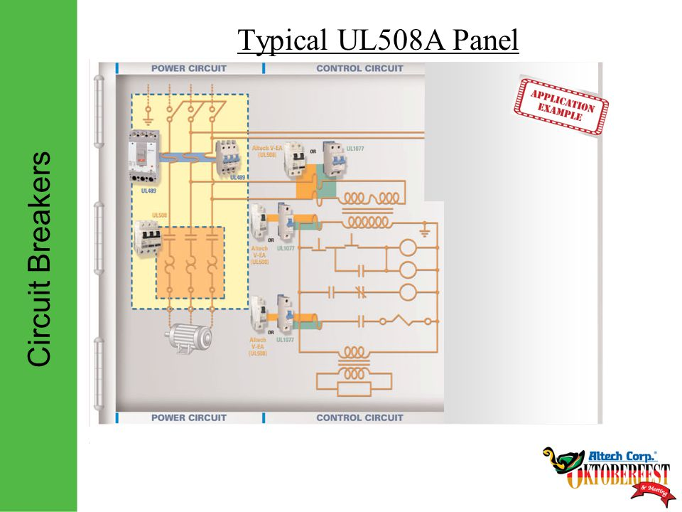 Circuit Breakers Typical UL508A Panel