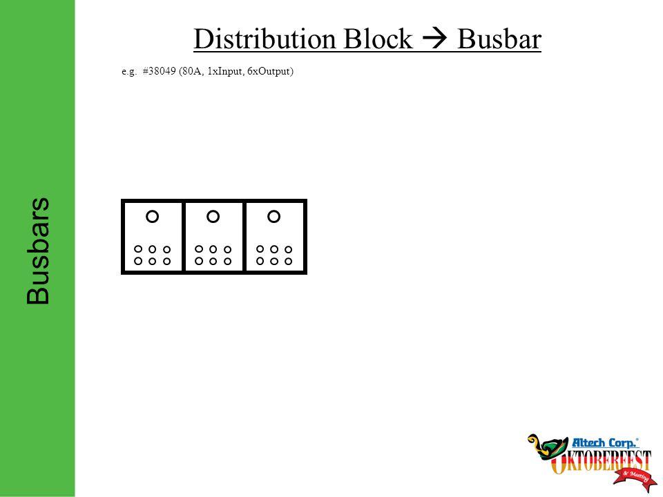 Busbars Distribution Block  Busbar e.g. #38049 (80A, 1xInput, 6xOutput)