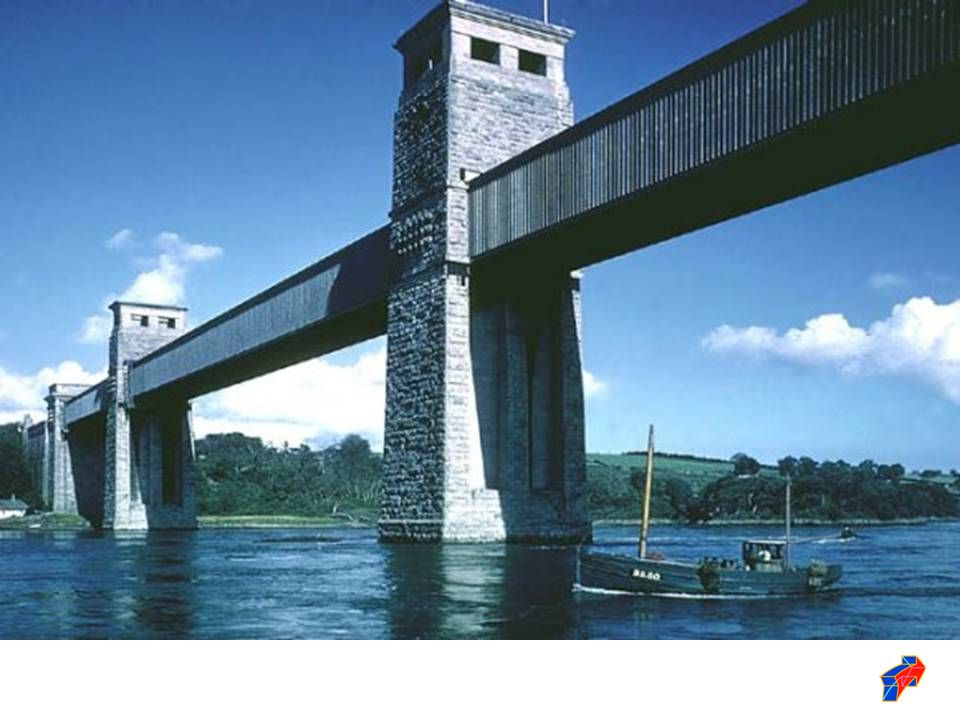 Once materials were available to engineers which could be loaded in tension, a new type of arch bridge appeared: This was the suspended deck arch bridge.