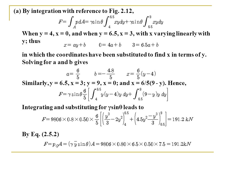 (a) By integration with reference to Fig.