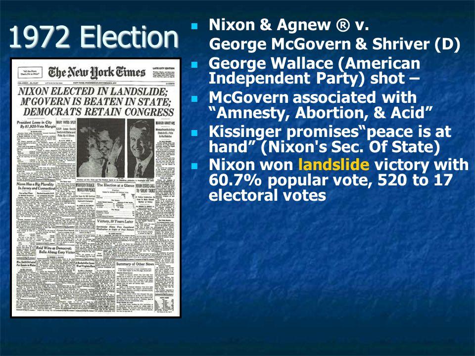 1972 Election Nixon & Agnew ® v.