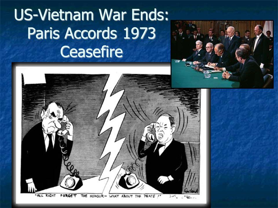 US-Vietnam War Ends: Paris Accords 1973 Ceasefire