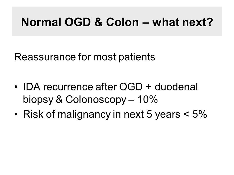Normal OGD & Colon – what next.