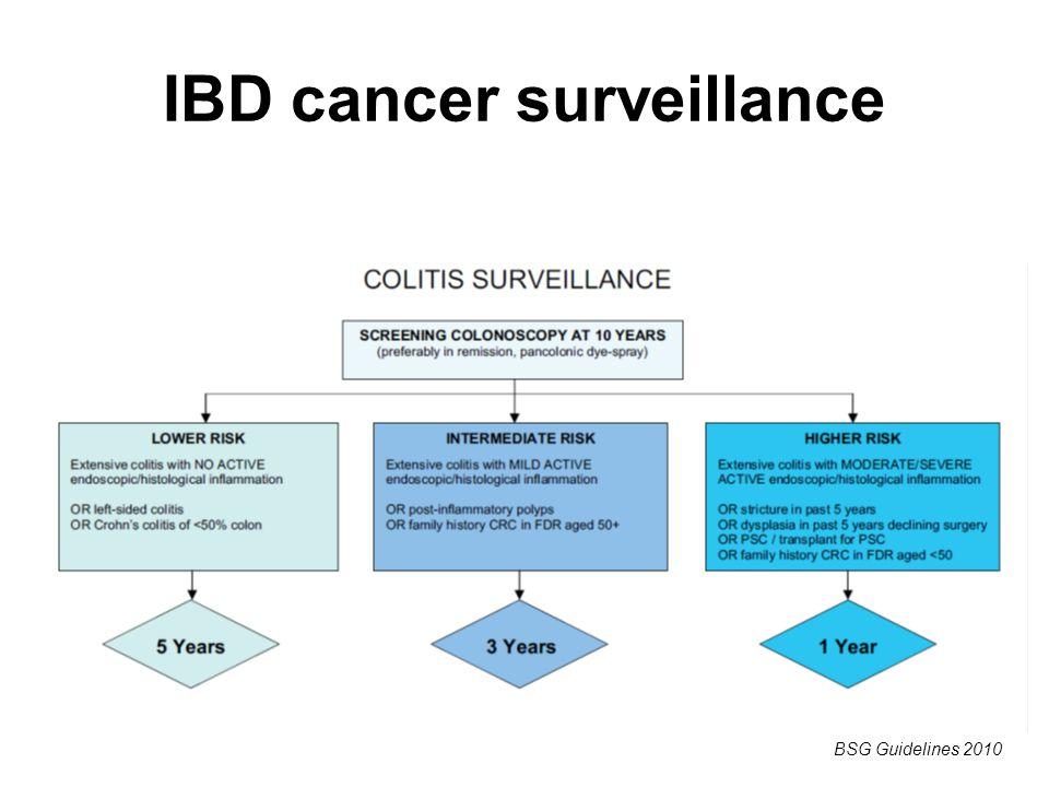 IBD cancer surveillance BSG Guidelines 2010