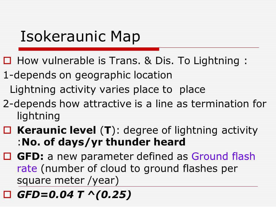 Isokeraunic Map for a Region  ISOkeraunic